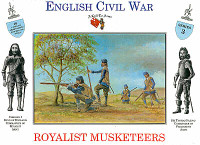 English Civil War Royalist Musketeers (16) 1/32 Call to Arms