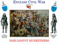 English Civil War Parliament Musketeers (16) 1/32 Call to Arms