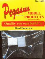 Dual Batteries (2) (Resin) 1/24-1/25 Pegasus