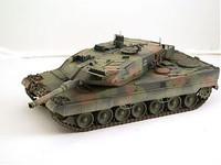 Leopard 2A5 German NATO Tank (Camouflage) (Assembled) 1/144 Pegasus