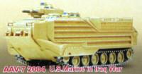 AAV7 USMC 2004 Iraqi War Tank (Assembled) 1/144 Pegasus