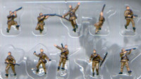 Russian Infantry WWII Figure Set (10) (Pre-Painted) 1/144 Pegasus