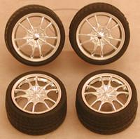 Chrome M5's Rims w/Tires for Import Cars (4) 1/24-1/25 Pegasus