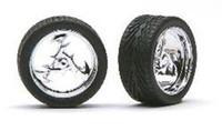 "Lighting 23"" Chrome Rims w/Tires (4) 1/24-1/25 Pegasus"