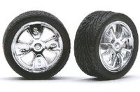 "Got Money 23"" Spinning Centers Chrome Rims w/Tires (4) 1/24-1/25 Pegasus"