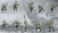 American Infantry WWII Figure Set (10) (Pre-Painted) 1/144 Pegasus