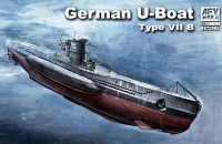 U-Boat Type VII B Submarine 1/350 AFV Club