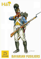 Napoleonic Bavarian Fusiliers (48) 1/72 Hat