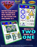 Moebius Flying Sub / Robot B-9 decals (Mini-Models)
