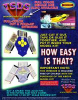 Moebius Flying Sub Color Fold-up Interior (Mini-Models)