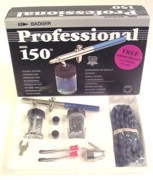 Professional Airbrush Set Fine, Medium & Heavy Heads Badger