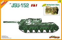 JSU152 Tank w/Red Army Scouts & Snipers (3 in 1 Kit) 1-35 Cyber Hobby