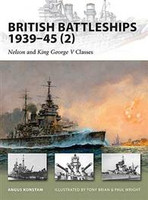 Vanguard British Battleships 1939-45 (2) Nelson & King George V Classes Osprey Books