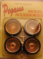 """Dz's 19"""" Gold Rims w/Low Profile Tires (4) 1/24-1/25 Pegasus"""