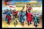 Thirty Years War Polish Infantry Mercenaries (48)  1/72 Mars