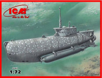 U-Boat Type XXVIIB Seehund (Early) German Midget Submarine 1/72 ICM Models