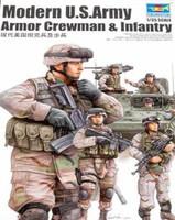 Modern US Army Crewmen & Infantry Figures Set (6) 1/35 Trumpeter