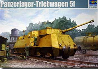 WWII German Panzerjager-Triebwagen 51 Armored Tank Hunter Railcar 1/35 Trumpeter