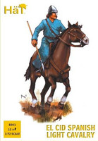 El Cid Spanish Light Cavalry (12 Mounted) 1/72 Hat
