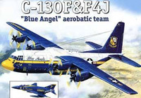 C-130 Hercules & F4J Blue Angel Aerobatic Team Aircraft (2 Kits) 1/144 A-Models