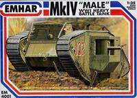 WWI British Male Mk IV Tank 1/35 Emhar