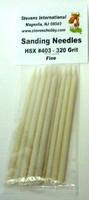 Fine Sanding Needles 320 Grits (12/Bag)