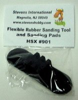 Flexible Rubber Sanding Tool w/3 diff Waterproof Sanding Pads (Bagged)