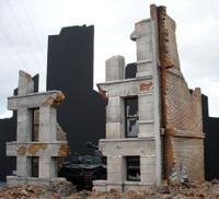 Ruined Concrete/Brick Building 1-35 Dioramas Plus