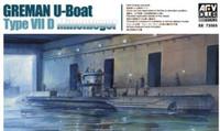 U-Boat VII D Minelayer Submarine 1/350 AFV Club