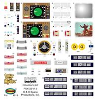 LiS Jupiter 2 Spaceship Stock Interior Decal Set for MOE 1/35 Paragrafix