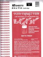"""Matte Foto/Frisket Film 8.5""""x11"""" (10 Sheets/Pk)"""