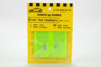 Street Rod Headlights - Round Back - (Satin Finish) (2) 1/25 Parts by Parks