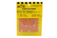 Street Rod Headlights - Round Back - (Polish Finish) (2) 1/25 Parts by Parks