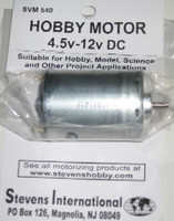 4.5 to 12v DC Small Electric Motor (Round Can) (for high endurance)