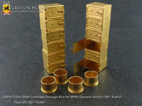 WWII German SdKfz 138/1 Ausf H Grille 15cm Shell Cartridge Storage Bins for DML 1/35 Griffon Models