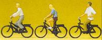 Teenagers Riding Bicycles (3) HO Scale Preiser Models