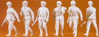 Unpainted German Reich Infantry Advancing (6) (Kit) 1-35 Preiser Models
