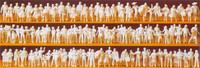 Unpainted Passengers Standing & Sitting (120) (Kit) N Preiser Models