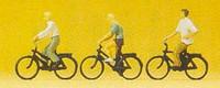 Teenagers Riding Bicycles (3) N Preiser Models