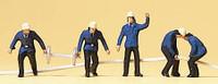 Firemen & Hoses (5) N Preiser Models