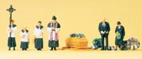 People at Funeral (6) N Preiser Models