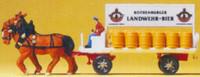 Horse Drawn Beer Wagon w/Rider N Preiser Models