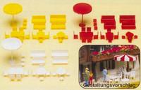 Tables, Chairs & Umbrellas (Kit) N Preiser Models