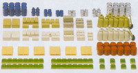 Crates, Barrels, Sacks, etc. (Kit) N Preiser Models