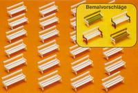 Benches (24) (Kit) N Preiser Models