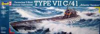 U-Boat Type VII C/41 Atlantic Version German Submarine 1/144 Revell Germany