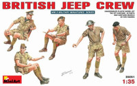 British Jeep Crew (5) 1-35 Miniart