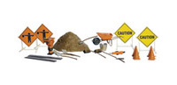 Scenic Accents Road Crew Details N Scale Woodland Scenics