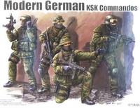 Modern German KSK Commandos Figure Set (4) 1/35 Trumpeter