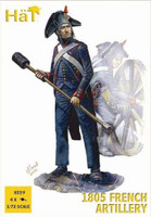Napoleonic 1805 French Artillery (16 Figures & 4 Cannons) 1/72 Hat